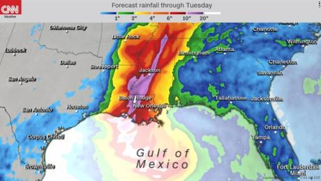 "Surge en el Golfo la tormenta tropical ""Barry"""