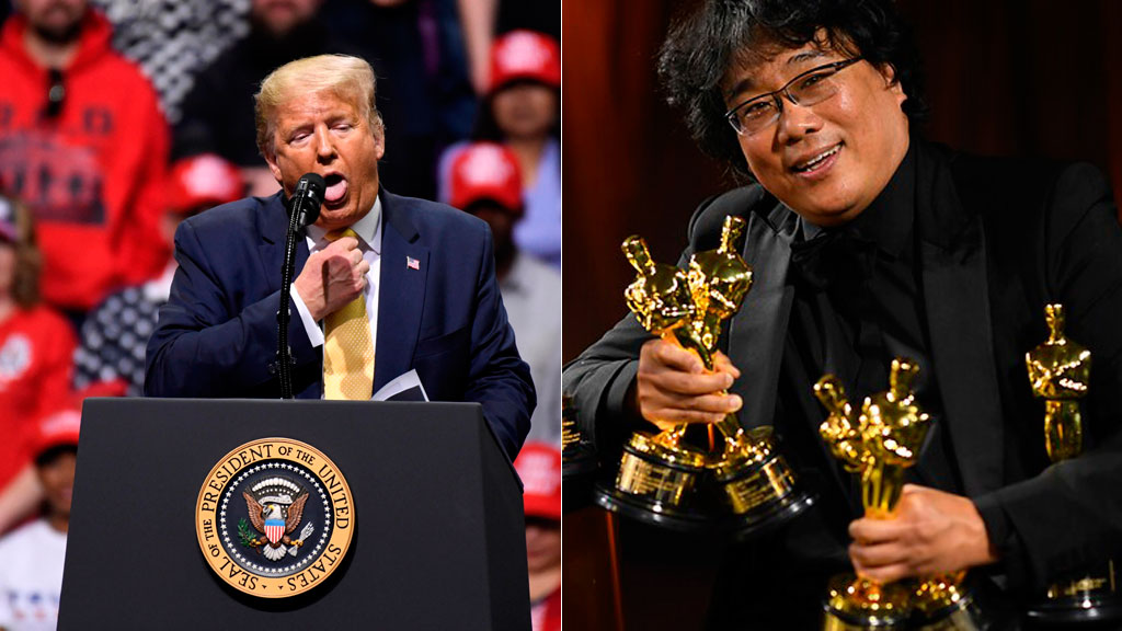 "Donald Trump critica el Oscar a ""Parásitos"""